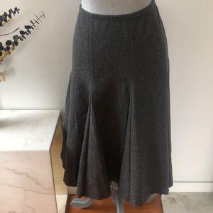 Max Mara Wool Blend Pleated Midi Skirt